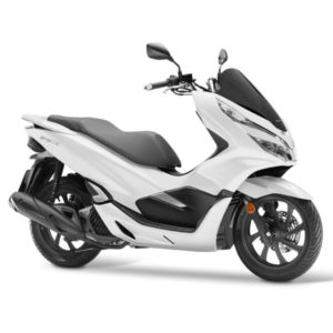 Honda-Pcx-weiß-Front-Side-Dch