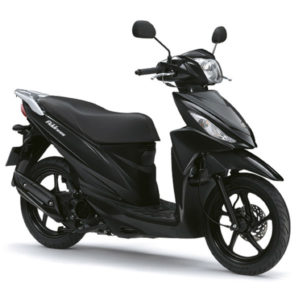 Suzuki-Address-110-negra-frontolateral-dch